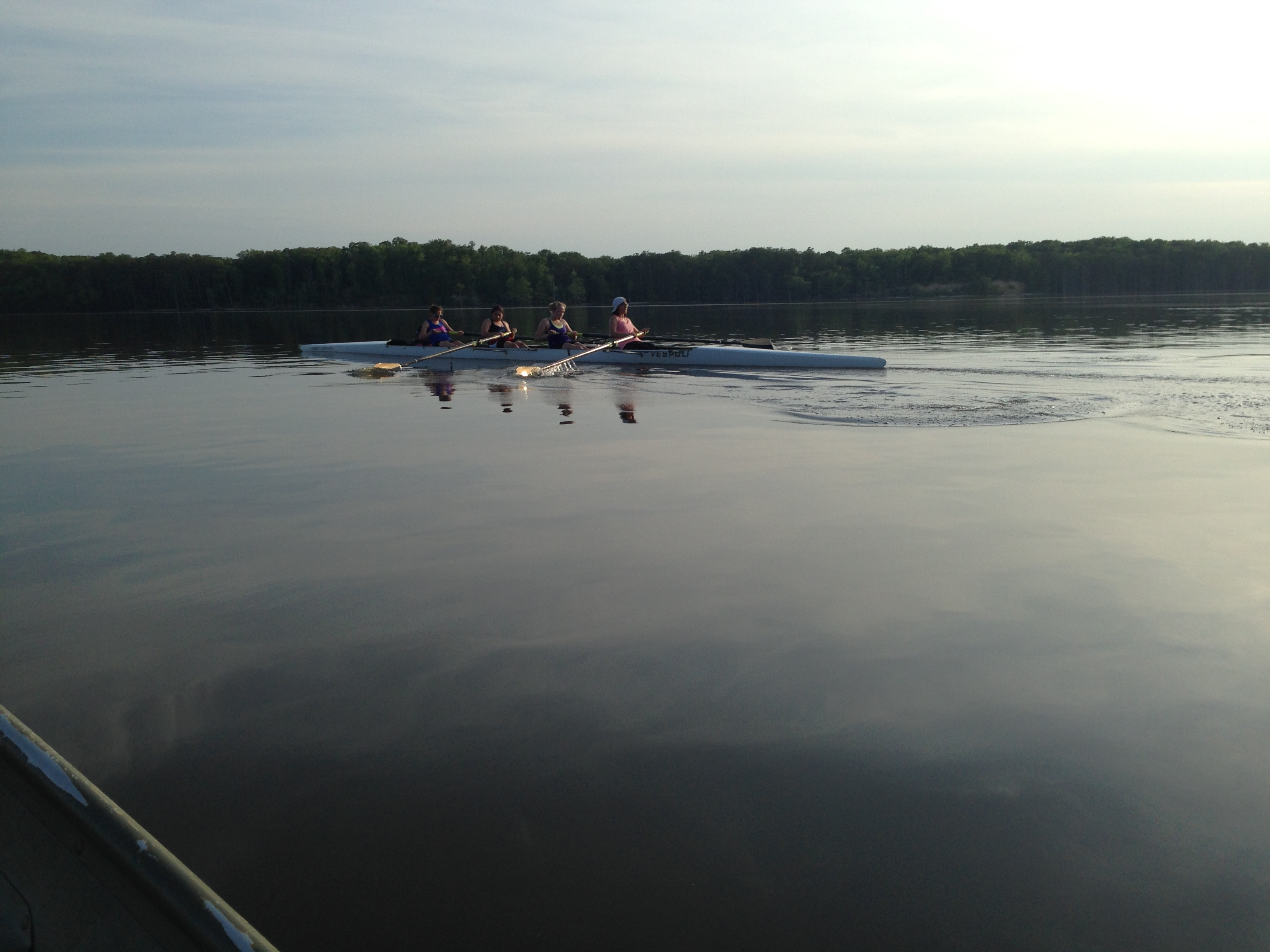 The Novice Women practing before the Dad Vail Regatta.
